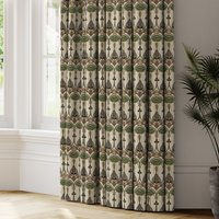 Belle Epoque Made to Measure Curtains White, Brown and Grey