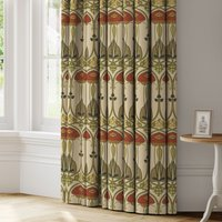 Belle Epoque Made to Measure Curtains Beige, Khaki and Red