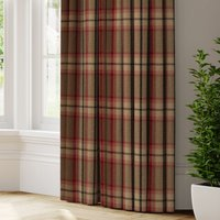 Highland Check Made to Measure Curtains Highland Check Rosso