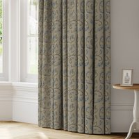 Summer Scroll Made to Measure Curtains blue