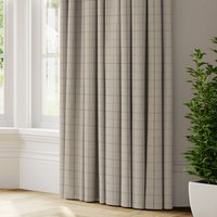 Nicole Check Made to Measure Curtains grey