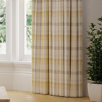 Melrose Check Made to Measure Curtains yellow