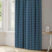 Orla Kiely Linear Stem Made to Measure Curtains Green and Black