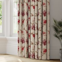 Courtney Made to Measure Curtains Courtney Woven Red