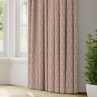 Geomo Made to Measure Curtains Geomo Woven Blush