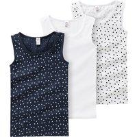 Minigirlwaeschenachtwaesche - 3 Mädchen Unterhemden mit Zierschleife - Onlineshop Ernstings family
