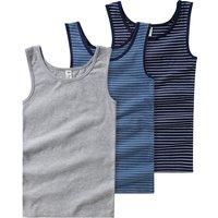 Boyswaeschenachtwaesche - 3 Jungen Unterhemden in verschiedenen Dessins - Onlineshop Ernstings family