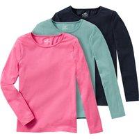 Minigirloberteile - 3 Mädchen Langarmshirts im Basic Look - Onlineshop Ernstings family