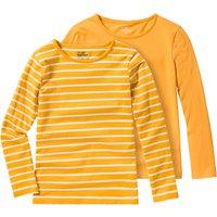 Minigirloberteile - 2 Mädchen Langarmshirts im Basic Style - Onlineshop Ernstings family