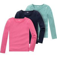 Girlsoberteile - 3 Mädchen Langarmshirts im Basic Style - Onlineshop Ernstings family