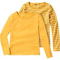 Girlsoberteile - 2 Mädchen Langarmshirts im Basic Look - Onlineshop Ernstings family