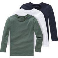 Miniboyoberteile - 3 Jungen Langarmshirts im Basic Look - Onlineshop Ernstings family