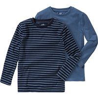 Miniboyoberteile - 2 Jungen Langarmshirts im Basic Look - Onlineshop Ernstings family