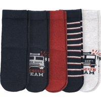 Miniboyaccessoires - 5 Paar Jungen Socken mit Feuerwehr Motiven - Onlineshop Ernstings family