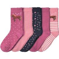 Minigirlaccessoires - 5 Paar Mädchen Socken mit Bio Baumwolle - Onlineshop Ernstings family