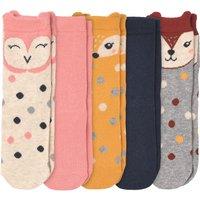 Minigirlaccessoires - 5 Paar Mädchen Socken mit Tier Motiven - Onlineshop Ernstings family
