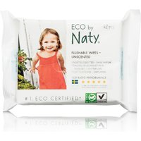 Eco by Naty Unscented Flushable Wipes