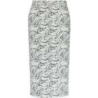 Nancy Dee Joni Floral Motif Pencil Skirt