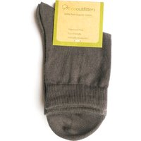 100% Organic Cotton Ankle School Socks - Grey