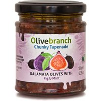 Olive Branch Chunky Tapenade - Kalamata Olives With Fig and Mint - 180g