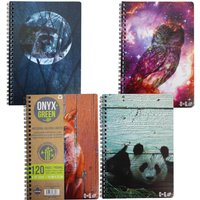 """A5 Sugar Cane Paper Notebook - 5.75 x 8.5"""" - 60 Ruled Sheets - Assorted Designs"""""""