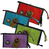 100% Jute Pencil Case With Gusset