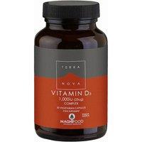 Vegan Vitamin D3 1000iu Complex Supplement - 50 Capsules
