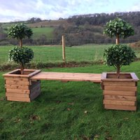 Outdoor Planter Bench - HB51