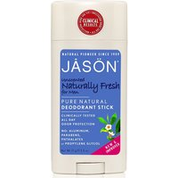 Jason Mens Naturally Fresh Unscented Deodorant Stick - 75g
