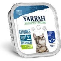 'Yarrah Organic Cat Food - Chicken & Mackerel Chunks With Spirulina 100g