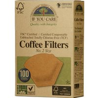 Compostable Unbleached Coffee Filters No.2 - 100 Filters