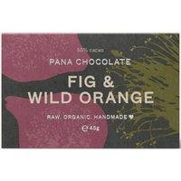 Pana Chocolate Raw Organic Fig and Wild Orange Chocolate Bar - 45g