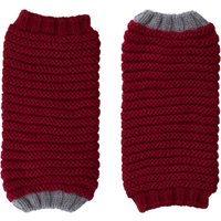 Ally Bee Eco Cashmerino Cuff Gloves - Red and Grey