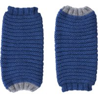 Ally Bee Eco Cashmerino Cuff Gloves - Blue and Grey