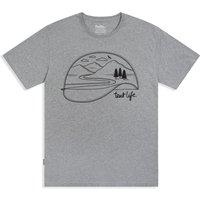 Silverstick Mens Tent Life Organic Cotton T-Shirt - Ash Marl