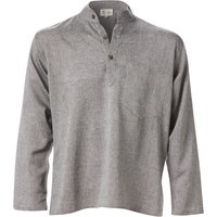 Cotton Khaddar Long Sleeve Shirt - Grey