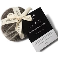 The Soap Co Small Exfoliating Soap Pebble - Bergamot and Min