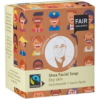 Shea Facial Soap With Cotton Soap Bag - Dry Skin - 2 X 80g
