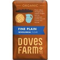 Doves Farm Organic Fine Plain Wholemeal Flour - 1kg