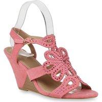 Damen Sandaletten Keil Sandaletten - Rosa - Conneaut