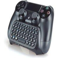 [REYTID] PS4 / Slim / Pro 2.4G Mini Wireless Keyboard ChatPad - Controller Gaming Message USB Game PS4 Black