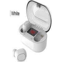 Écouteurs bluetooth sans fil avec micro et écran Led White