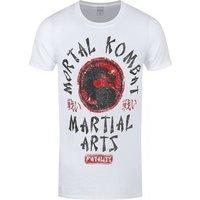 Mortal Kombat Men's Martial Arts Tshirt White / Small (Mens 36 to 38)