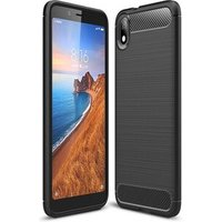 Case for XIAOMI REDMI 7A Armored Carbon Back Cover good protection carbonic black