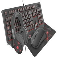 GAMING COMBO SET 4IN1 GENESIS COBALT 300 KEYBOARD + MOUSE + HEADPHONES + MOUSEPAD, US LAYOUT