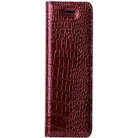 Lenovo / Motorola Moto G5- Surazo® Genuine Leather Smart Magnet RFID- Cayme Red
