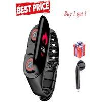 2 in1 Sport Fitness Bracelet with Bluetooth Earphones