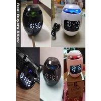 Bluetoothx Speaker Wireless Bluetooth Sound box with LED Display Alarm Clock Hifi TF Card MP3 Music Play