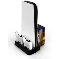 For PS5 Vertical Cooling Fan Stand Digital Edition Black