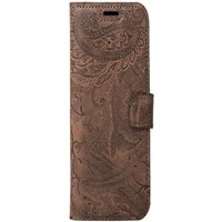 Honor 8 Lite / 8 Youth- Surazo® Phone Case Genuine Leather- Ornament Brown